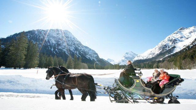 schlittenfahrten achensee tirol winterkutsche