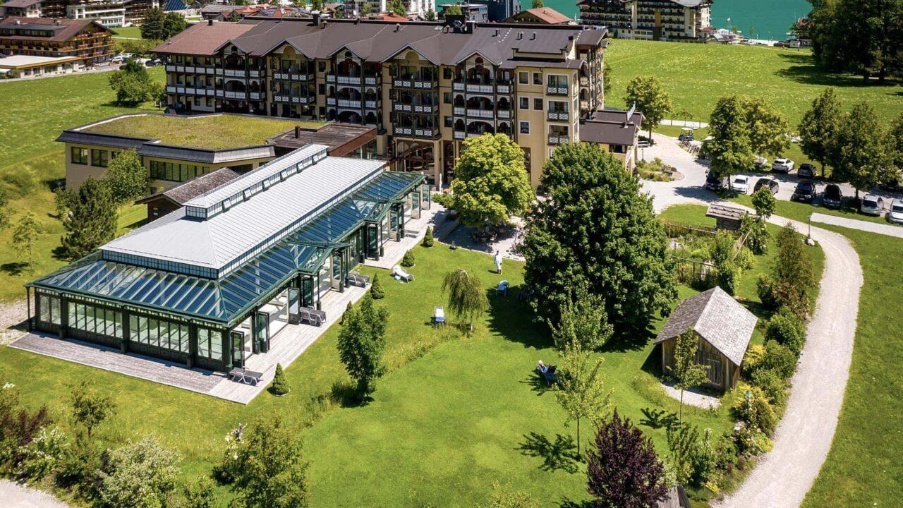 Liegewiese im Hotel der Wiesenhof am Achensee