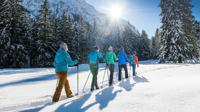 achensee gefuehrte Winterwanderung mit Naturpark Karwendel Ranger